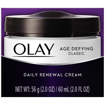 Olay Age Defying Classic Daily Renewal Cream Face Moisturizer 2 Oz.
