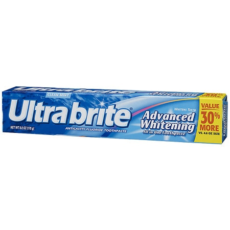 Ultra Brite Advanced Whitening Fluoride Toothpaste Mint