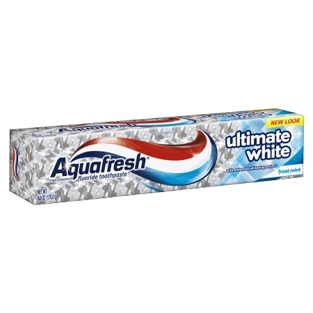 Aquafresh Ultimate White Fluoride Toothpaste Frost Mint