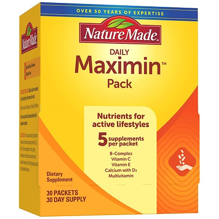 Nature Made Maximin Pack Daily Supplement Packets for Men & Women - 30 ea