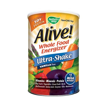 Nature's Way Alive! Whole Food Energizer Ultra Shake Dietary Supplement Vanilla - 20 oz.