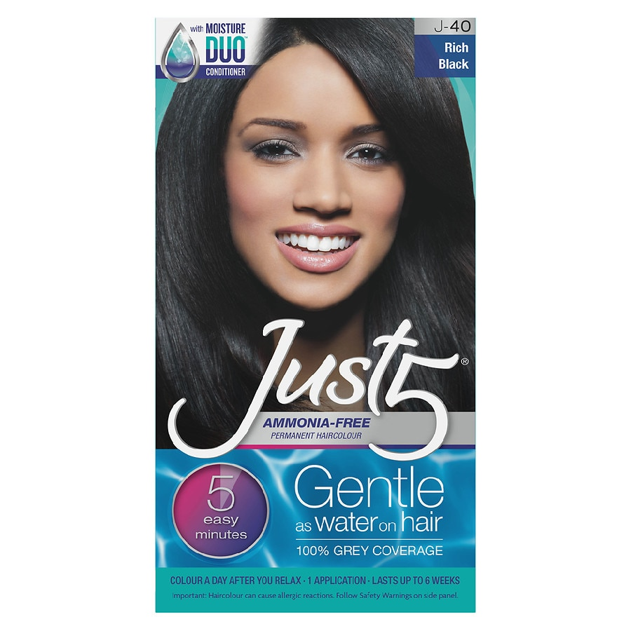 Just 5 Just 5 Womens Hair Color Rich Blackrich Black Walgreens