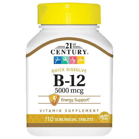 Image of 21st Century Sublingual Vitamin B-12 5000mcg - 110 tablets