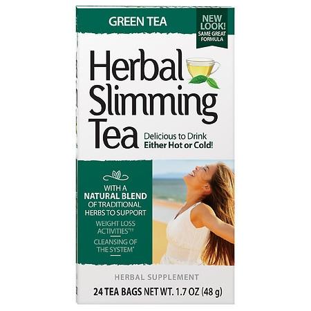 21st Century Herbal Slimming Tea Green Tea, 24 pk - 0.06 oz.