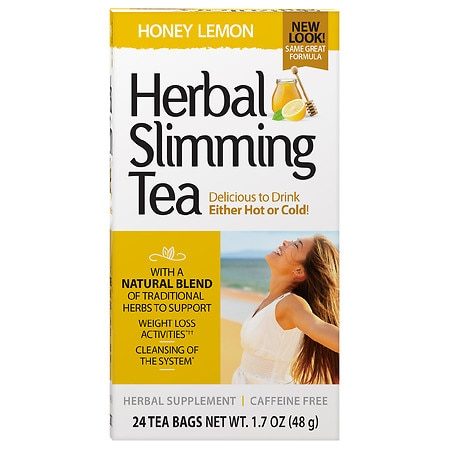 21st Century Herbal Slimming Tea Honey Lemon - 0.06 oz. x 24 pack