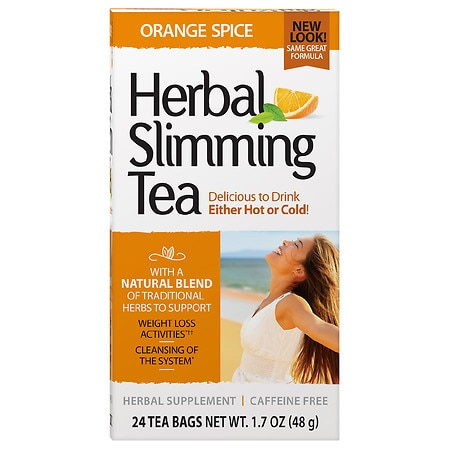 21st Century Herbal Slimming Tea Orange Spice - 0.06 oz. x 24 pack