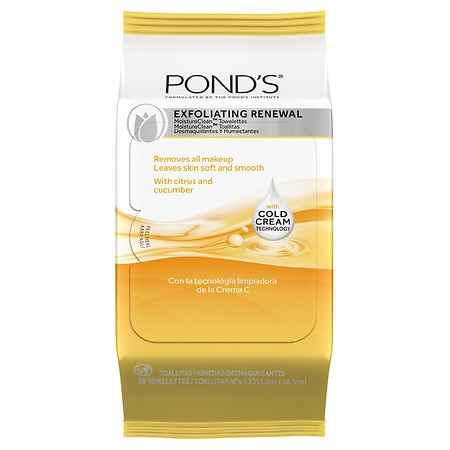 POND'S Moisture Clean Towelettes Exfoliating Renewal - 28 ea