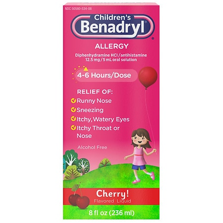 Children's Benadryl Allergy, Liquid Cherry