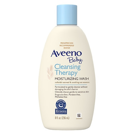 Aveeno Baby Cleansing Therapy Moisturizing Wash Fragrance Free - 8 oz.