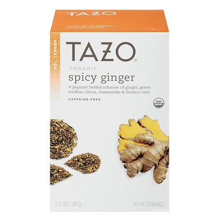 Tazo Herbal Tea, Organic Spicy Ginger, 20 pk