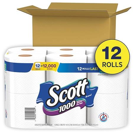 Scott 1000 Sheets Per Roll Toilet Paper, Bath Tissue | Walgreens