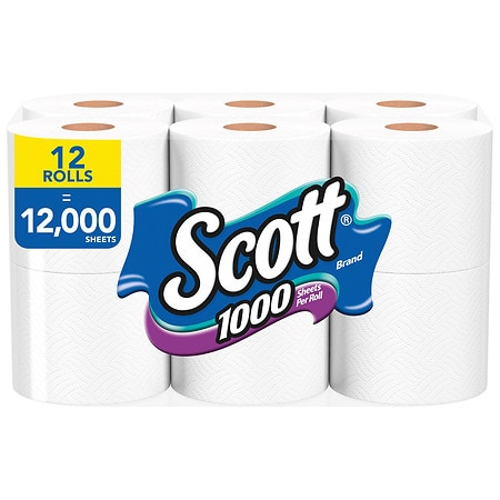 Scott  Sheets Per Roll Toilet Paper Bath Tissue Walgreens - Gold flake toilet paper