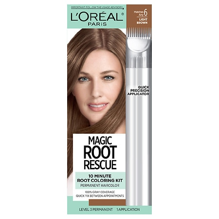 L\'Oreal Paris Root Rescue Root Rescue 10 Minute Root Coloring Kit, Light  Brown