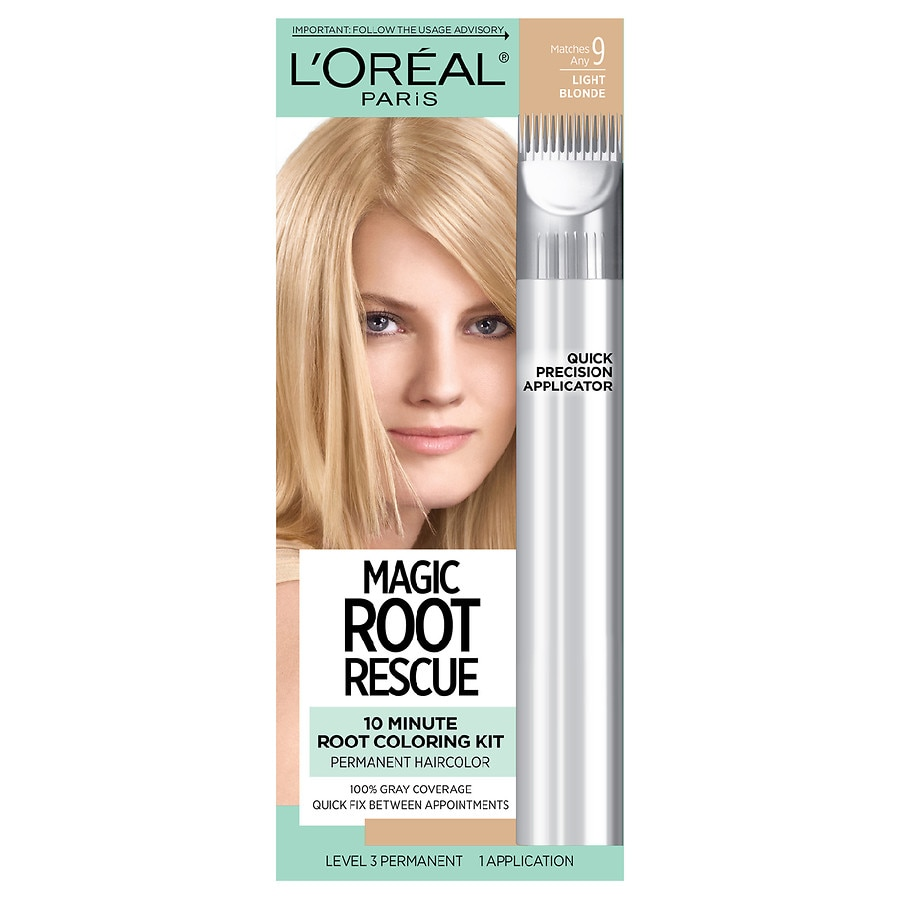 L Oreal Paris Root Rescue Hair Color Light Blonde 9 Walgreens