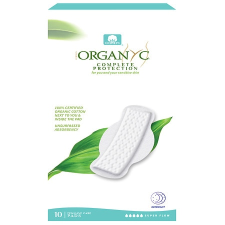 ORGANYC Organic Cotton Pads with Wings