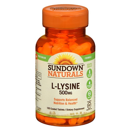 Sundown Naturals L-Lysine 500 mg Dietary Supplement Tablets