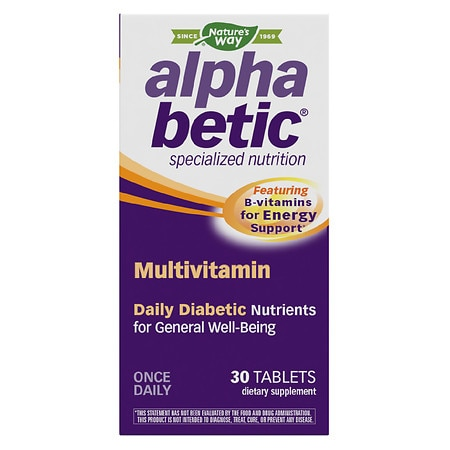 Image of Alpha Betic Once-A-Day Multivitamin Supplement - 30 tablets