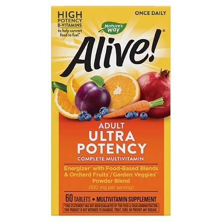 Nature's Way Alive! Once Daily Multivitamin, Tablets - 60 ea