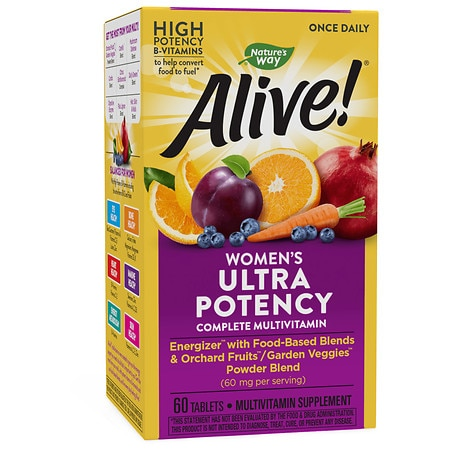 Nature's Way Alive! Once Daily Women's Ultra Potency Multivitamin, Tablets - 60 ea
