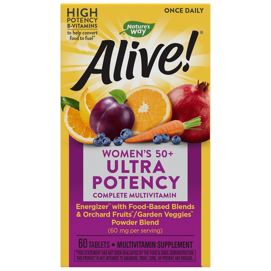 Nature S Way Alive Once Daily Women S 50 Ultra Potency Multivitamin Tablets Walgreens