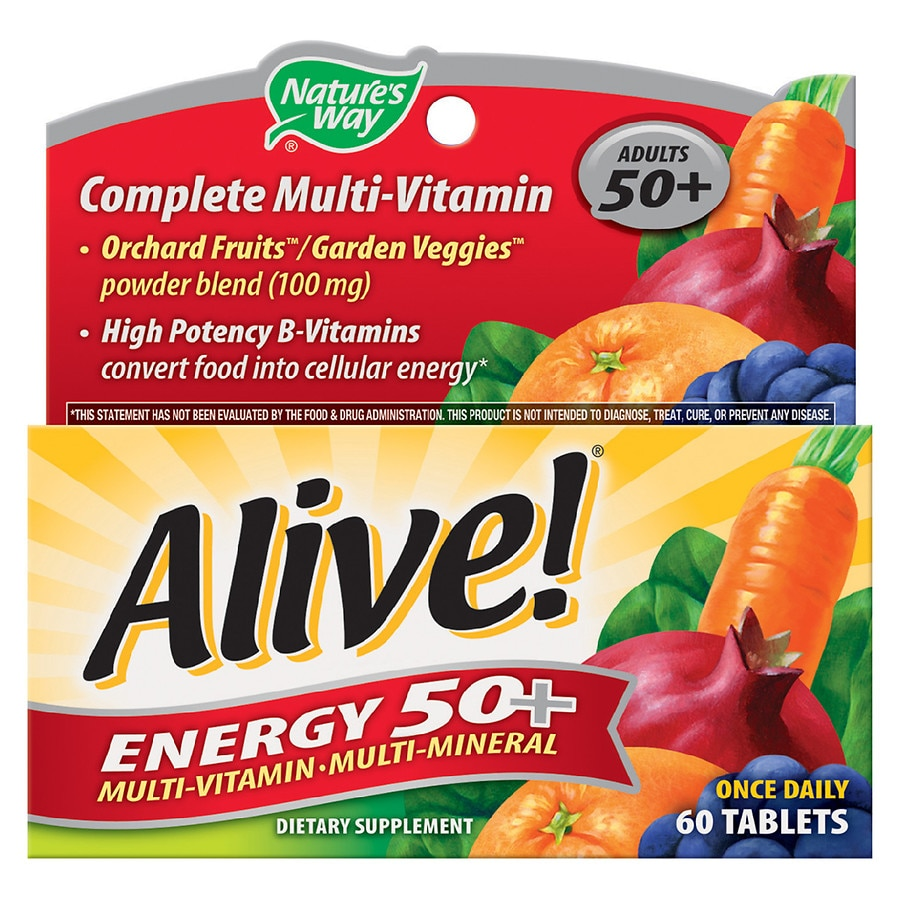 Vitamins For Energy >> Nature S Way Alive Energy 50 Multivitamin Tablets