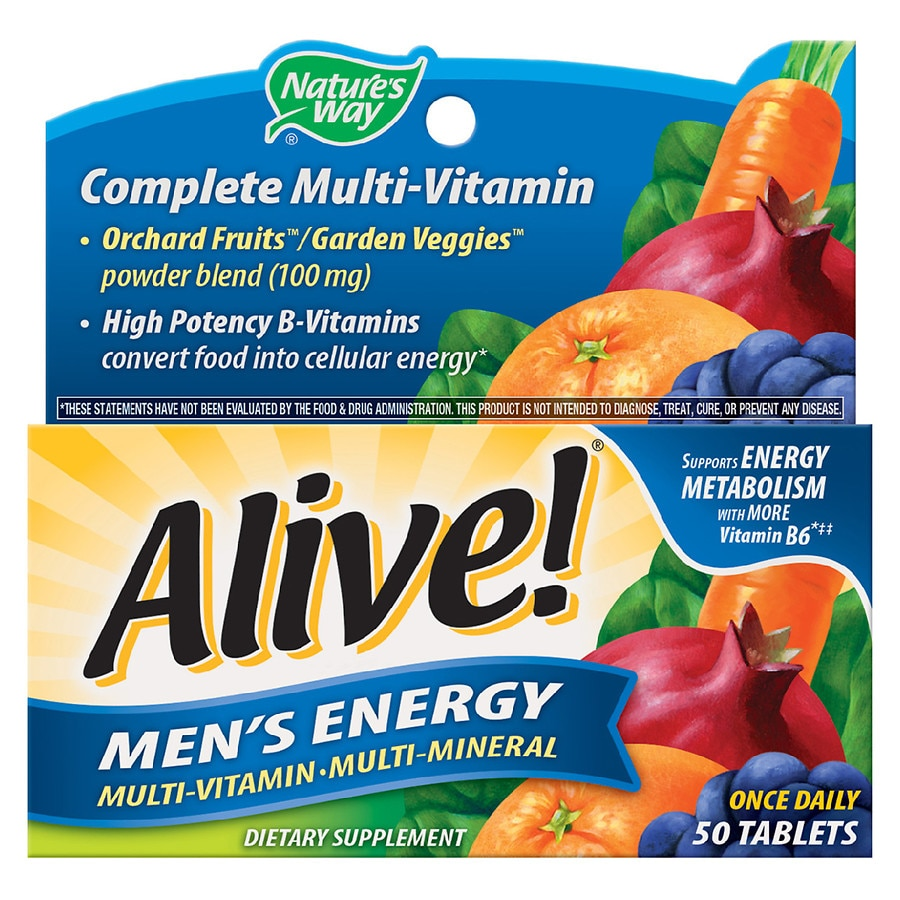 Nature S Way Alive Men S Energy Multivitamin Multimineral Tablets Walgreens
