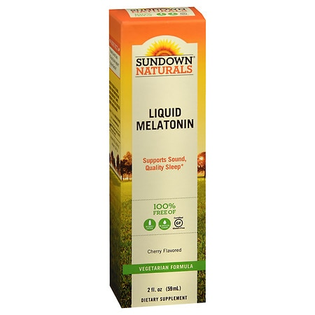 Sundown Naturals Sublingual Melatonin Liquid Cherry