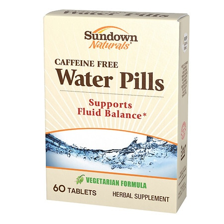 Natural water tablets