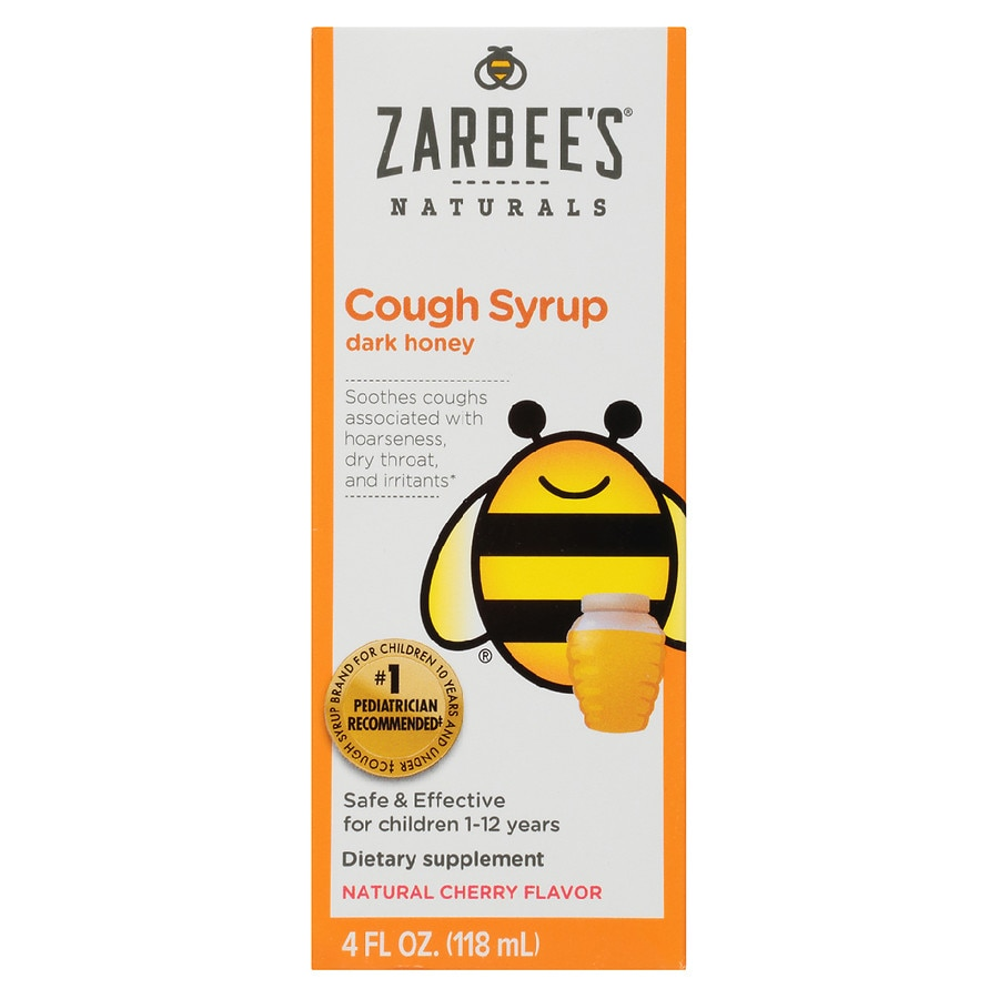 Zarbee S Naturals Children S Cough Syrup Natural Cherry