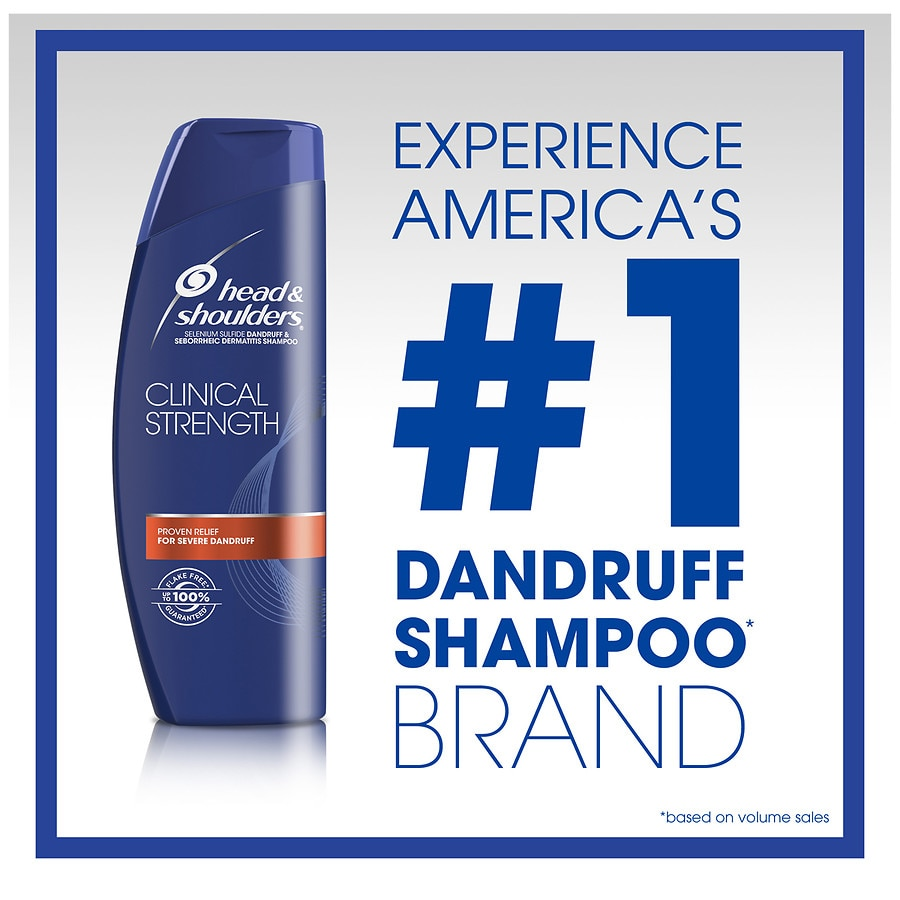 Head Shoulders Clinical Strength Dandruff And Seborrheic Shampoo Anti Hair Fall 330 Ml Dermatitis Walgreens