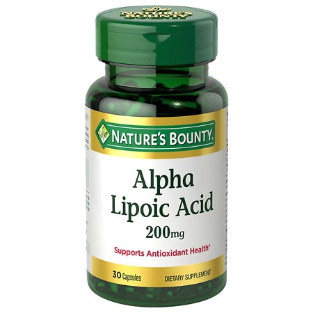 Nature's Bounty Super Alpha Lipoic Acid 200 mg Dietary Supplement Capsules