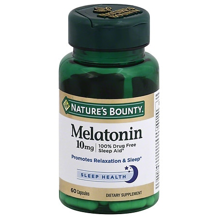 Nature's Bounty Maximum Strength Melatonin 10 mg Capsules