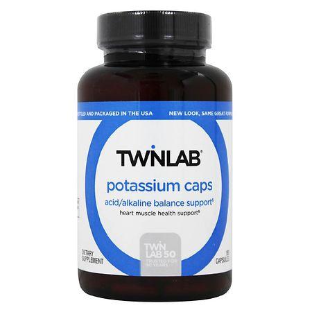 Twinlab Potassium Caps Dietary Supplement Capsules - 180.0 ea