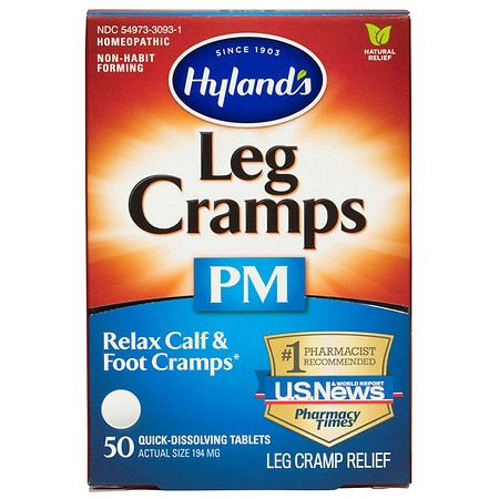 Hyland's Leg Cramps PM Nighttime Cramp Relief Tablets - 50 ea