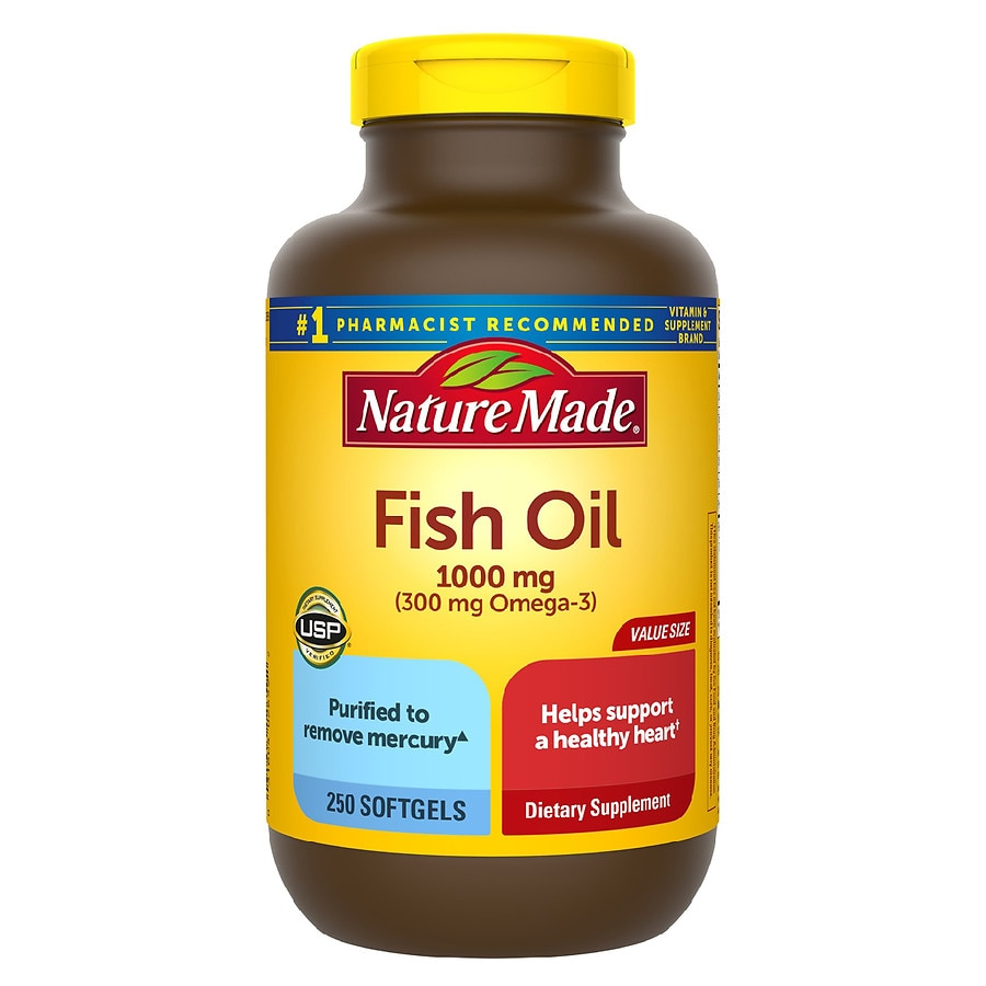 Nature made fish oil 1000 mg dietary supplement liquid for Fish oil pills