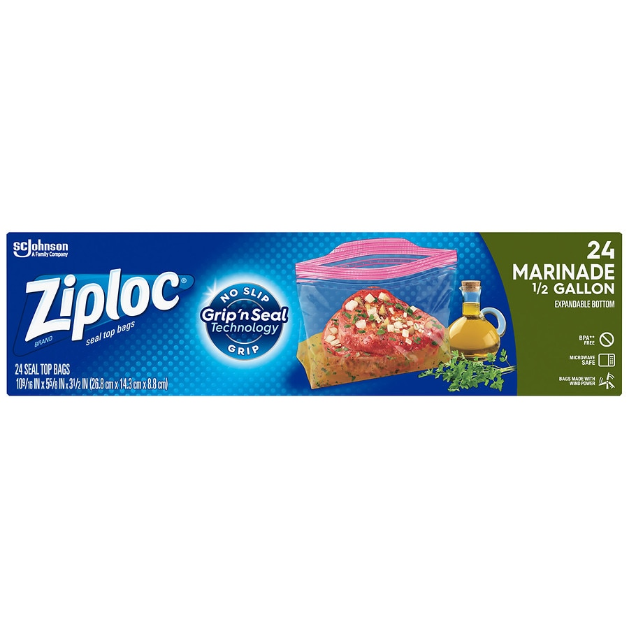 Ziploc marinade expandable bottom bags walgreens product large image reheart Image collections