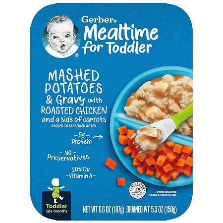 Gerber Graduates for Toddlers Lil' Entrees Mashed Potatoes & Gravy with Roasted Chicken - 5.3 oz.
