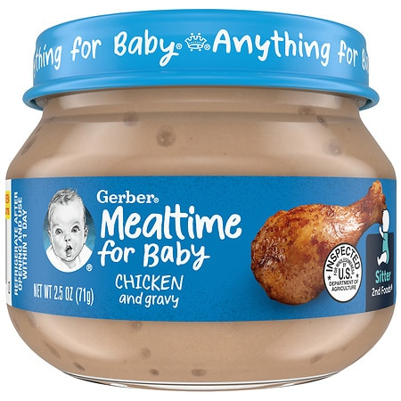 Gerber 2nd Foods Baby Food Chicken & Chicken Gravy - 2.5 oz.