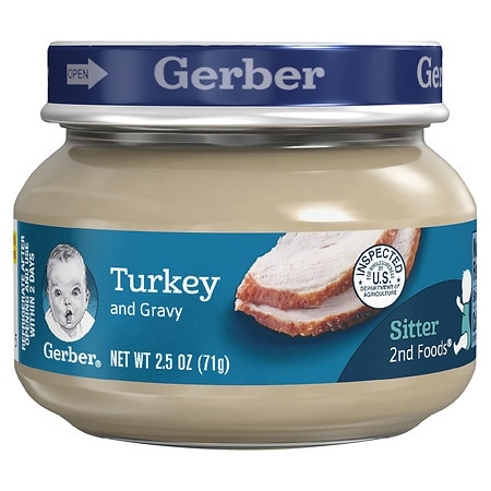 Gerber 2nd Foods Baby Food Turkey & Gravy - 2.5 oz.