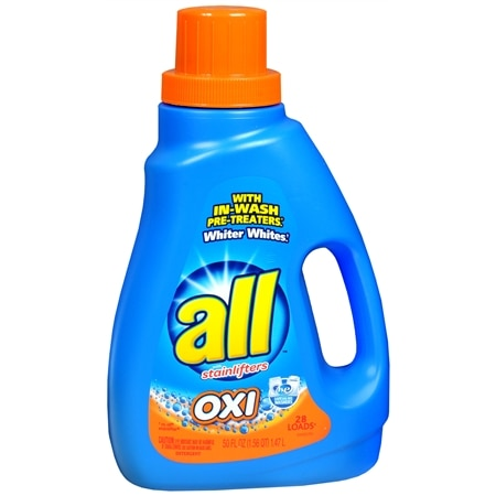 All Oxi with Stainlifters Laundry Detergent Liquid Fresh Rain - 50 oz.