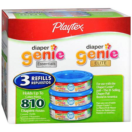 Playtex Diaper Genie II Disposal System Refills 3 Pack