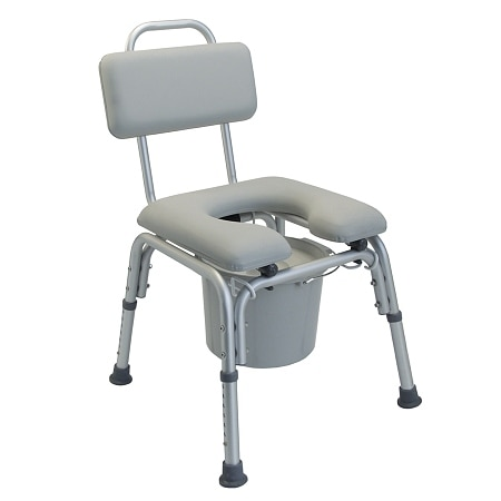 Lumex Padded Commode Bath Seat without Support Arms