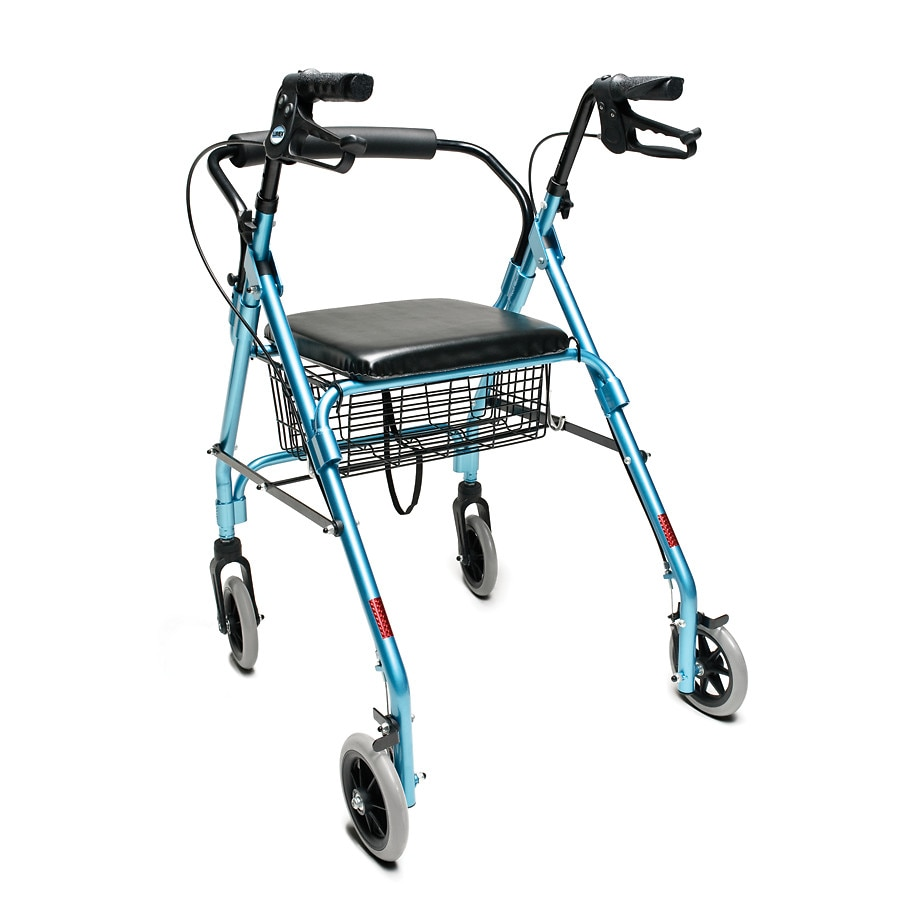 lumex walkabout lite 4 wheel rollator aqua walgreens. Black Bedroom Furniture Sets. Home Design Ideas