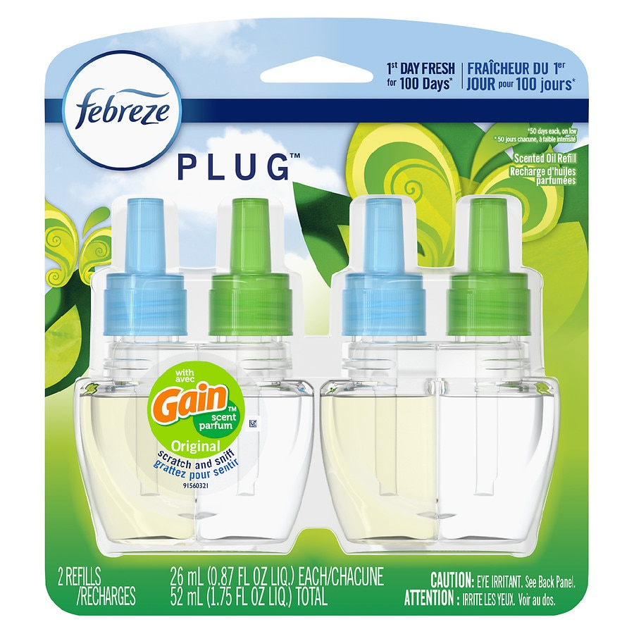 Febreze Plug Air Freshener Scented Oil Refill Gain Original
