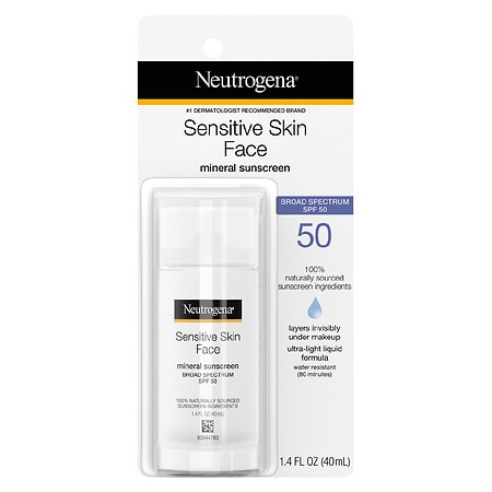 Neutrogena Pure & Free Liquid Sunscreen, SPF 50 - 1.4 fl oz