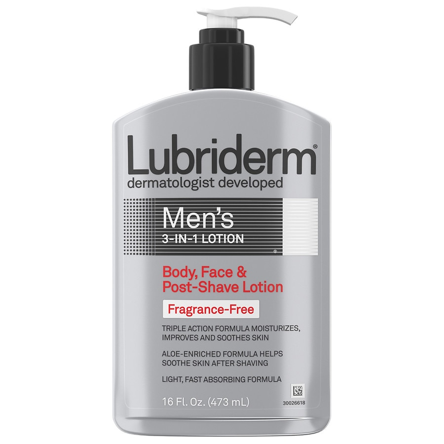 Lubriderm Men's 3-in-1 Body, Face & Post-Shave Lotion Fragrance Free16.0 fl  oz