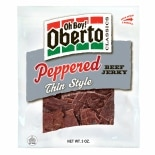 Oh Boy! Oberto Classics, Thin Style Beef Jerky Peppered