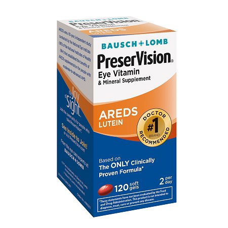 PreserVision is the #1 recommended brand by eye doctors for people with moderate-to-advanced age-related macular degeneration. Brought to you by Bausch + Lomb — the leader in AREDS eye vitamins/5.
