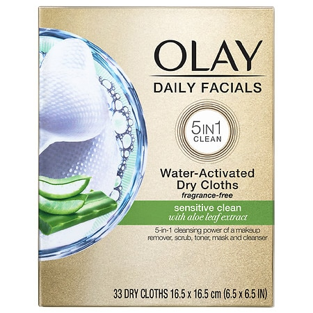 Olay 4-in-1 Daily Face Wipes, Sensitive