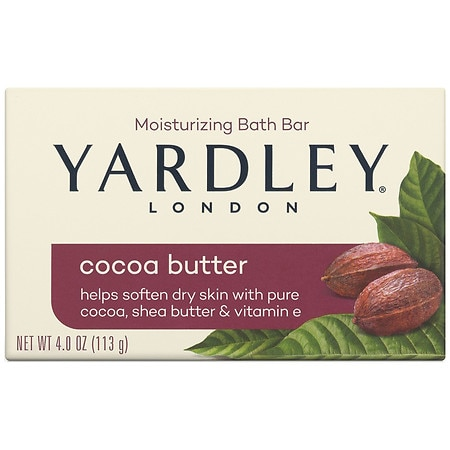 Yardley of London Naturally Moisturizing Bath Bar Cocoa Butter - 4.25 oz.